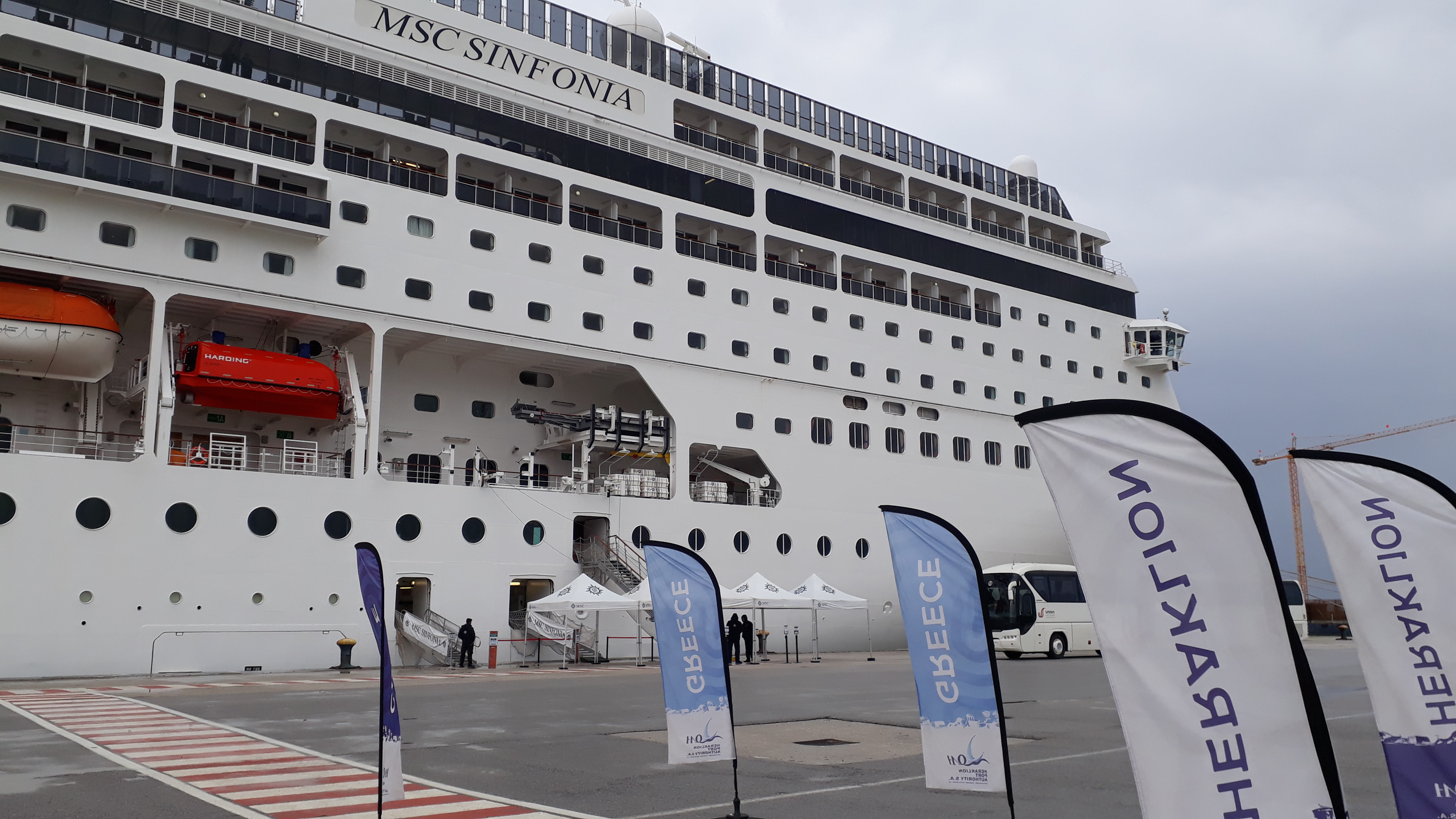 The port of Heraklion welcomes the first cruise call of the year!